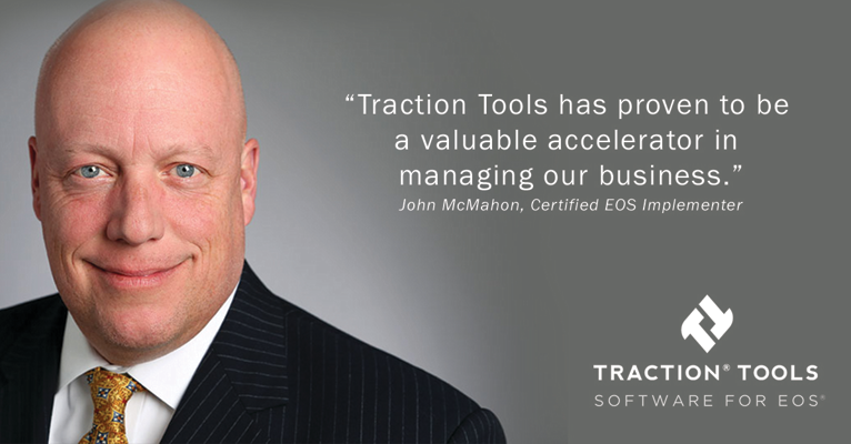 John McMahon, Certified EOS Implementer gives testimonial for EOS software