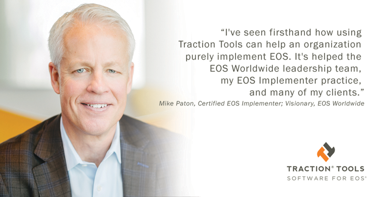 Mike Paton of EOS worldwide giving a testimonial for EOS software