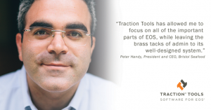 Peter Handy gives testimonial for EOS software