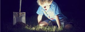 boy discovering treasure in the ground | top Traction Tools features you didn't know about