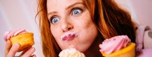 woman eating cupcakes   EOS Kelly Knight leading remote teams