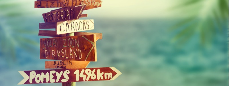Direction signpost with distance to many different countries | Cross-cultural communication on a remote team