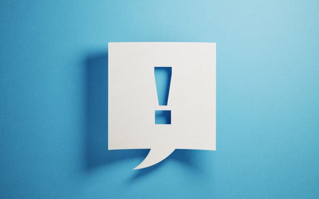 White chat bubble on blue background   5 Steps to a Great Scorecard