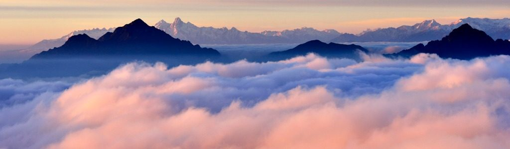 mountain range above the fog | strengthen your data component