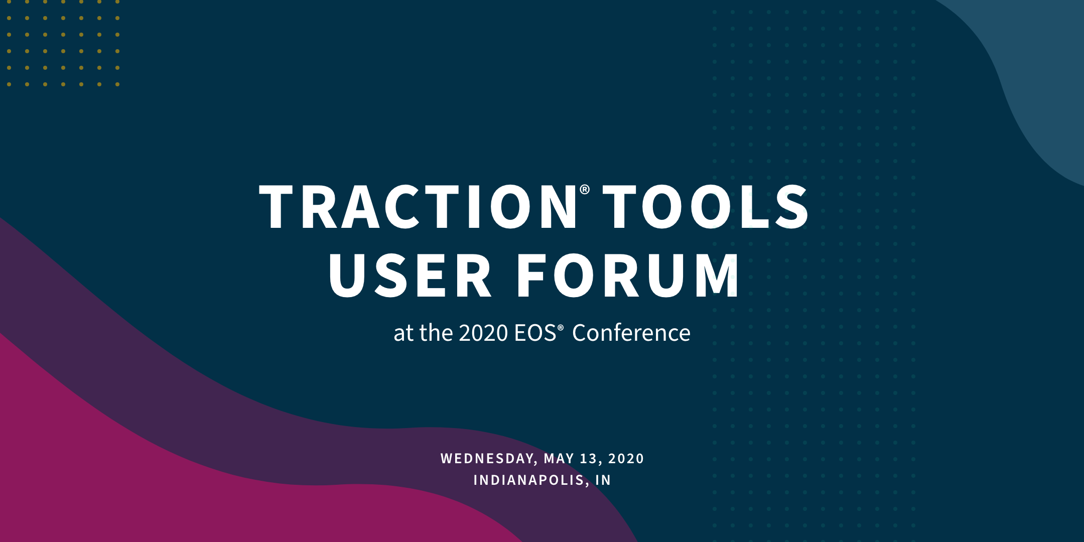 Traction Tools User Forum 2020